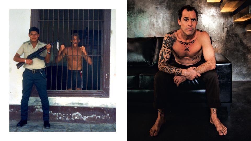 No Peru, em 1988; e e na casa de Yago, em Florianópolis