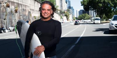 O sindicalista dos surfistas