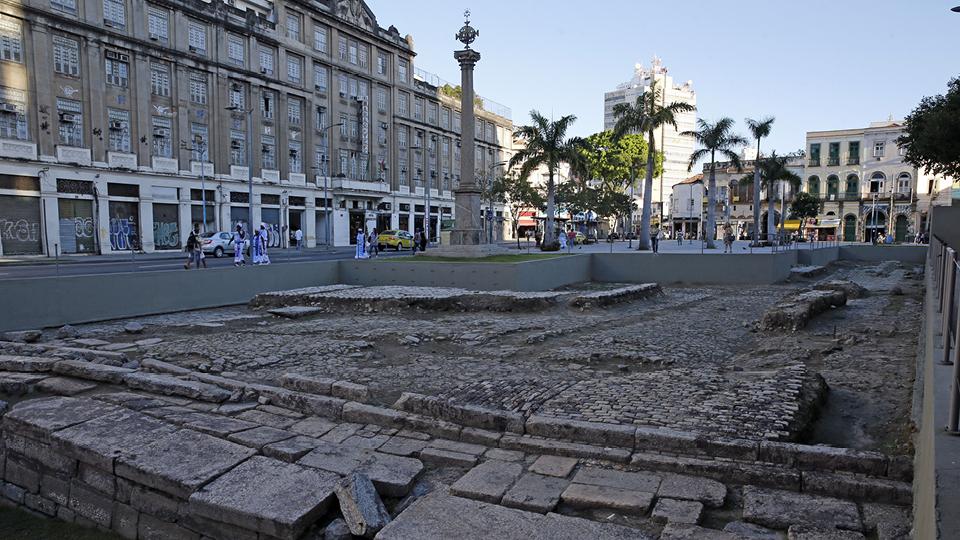 Cais do Valongo, em Santos, litoral de São Paulo