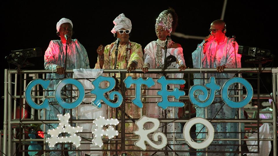 Cortejo Afro, um dos tradicionais blocos do carnaval baiano