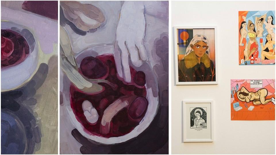 Pinturas de Stephanie Lucchese e a exposição The Great Women Artists