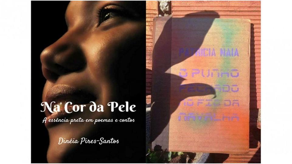 Capas dos livros de Dinéia Pires-Santos e Patricia Naia, autoras garimpadas por Ketty