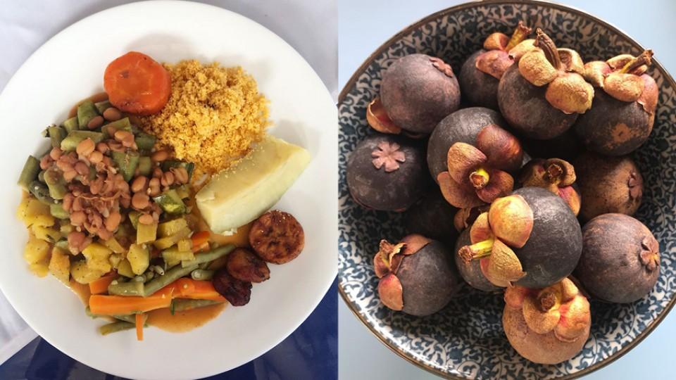 """""""Meu prato no restaurante em Uruará"""", Bela Gil; e a deliciosa fruta mangostão ou mangostin"""