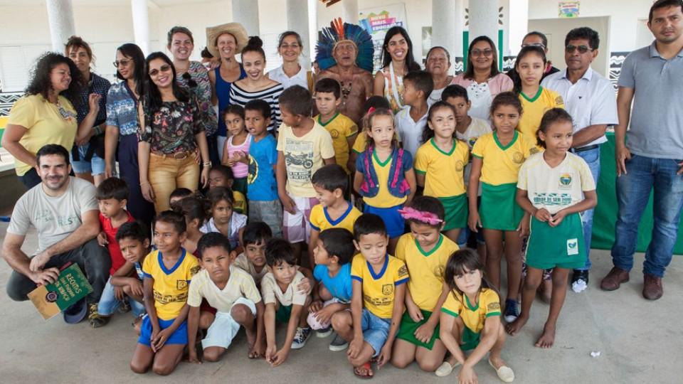 Café da manhã na escola da Transamazônica