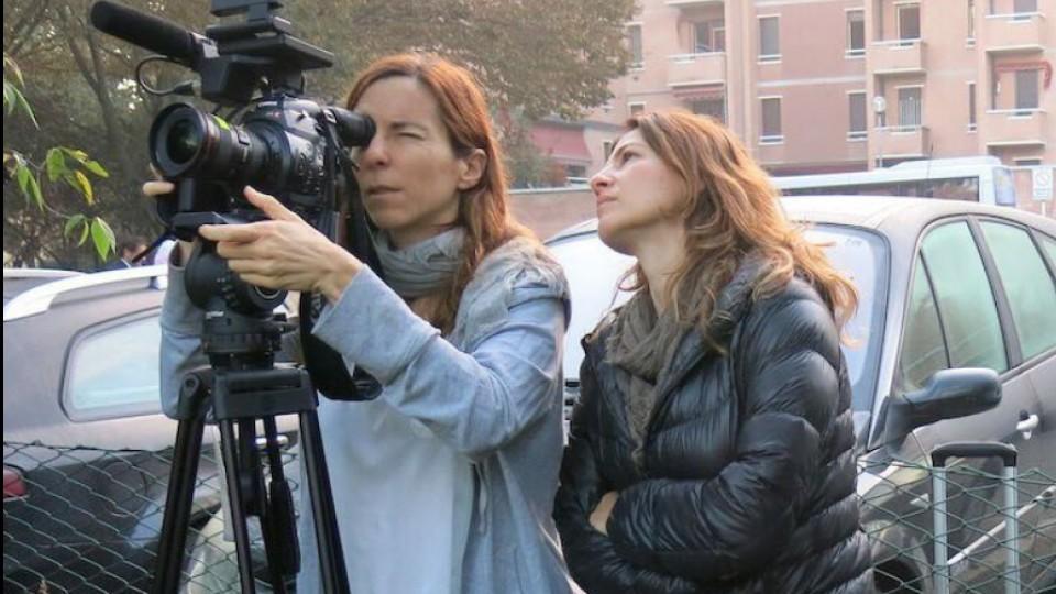 Janice D'avila e Estela Renner em Nova York, durante as gravações de O começo da vida