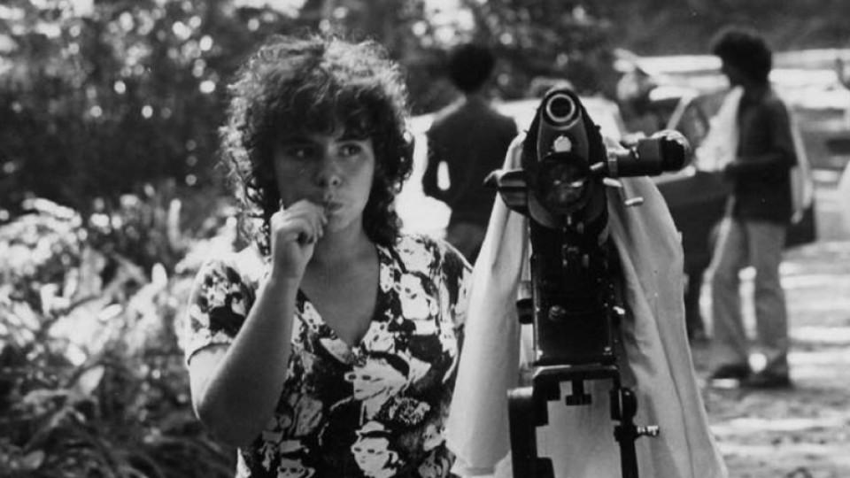 A pioneira Kátia Coelho, ainda estudante, em 1983