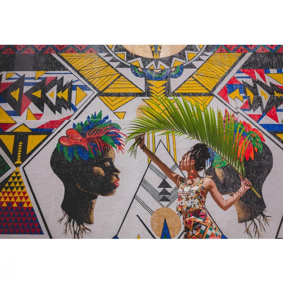Criola traz história e ancestralidade afrobrasileira para seus grafites