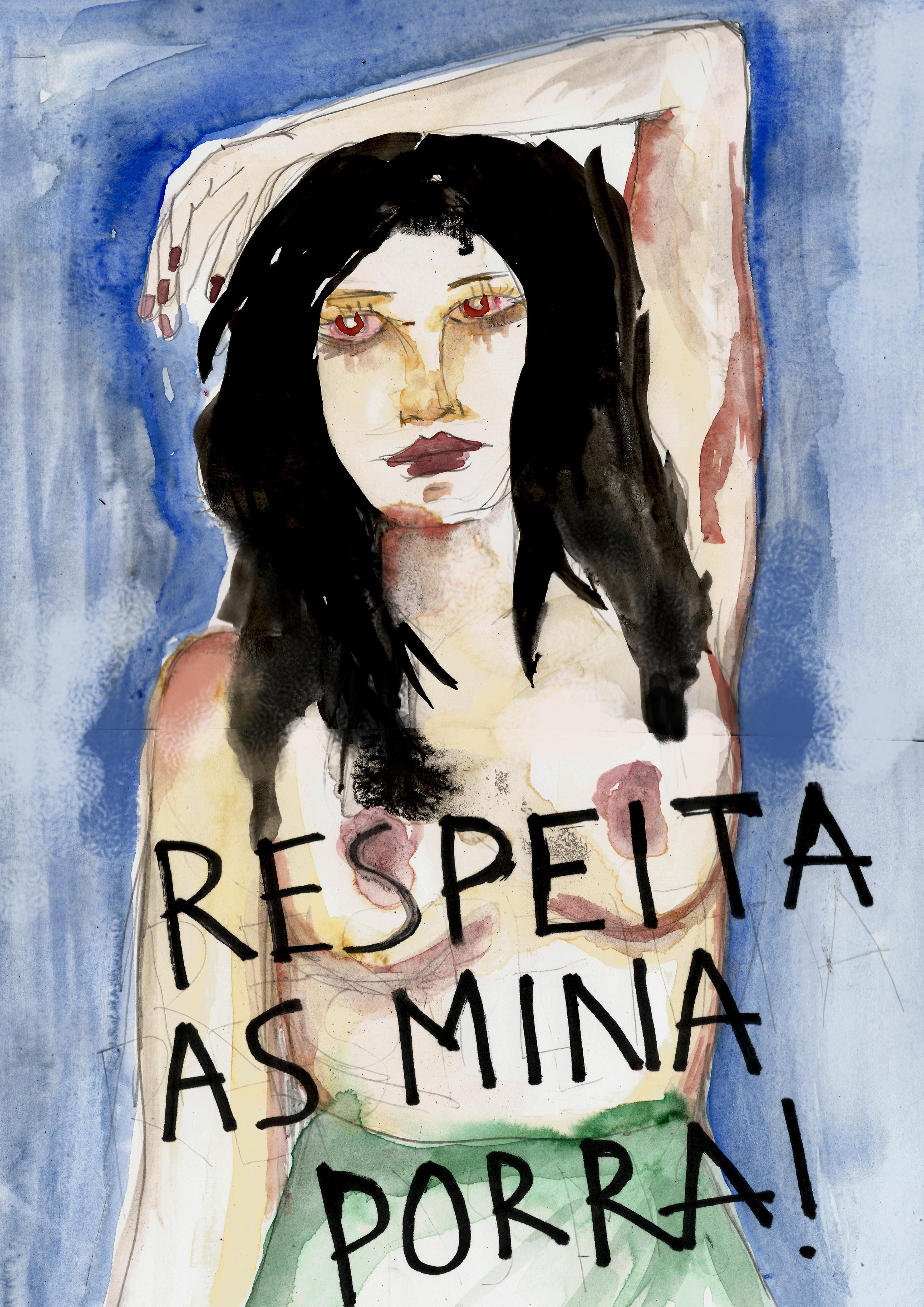 Artista multimídia, Rita Wainer é conhecida por seu trabalho feminino e feminista, geralmente acompanhado por seus textos poéticos