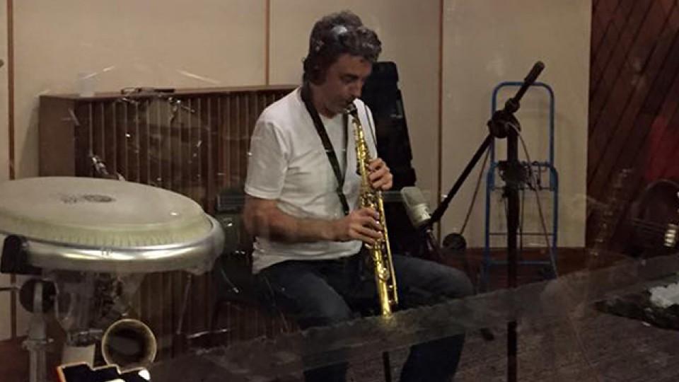 O saxofonista Maurício Pereira