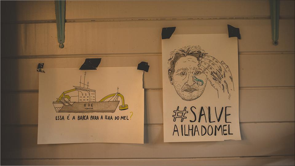 Quinze artistas ocuparam a Ilha por dez dias para ampliar o debate sobre as obras na região