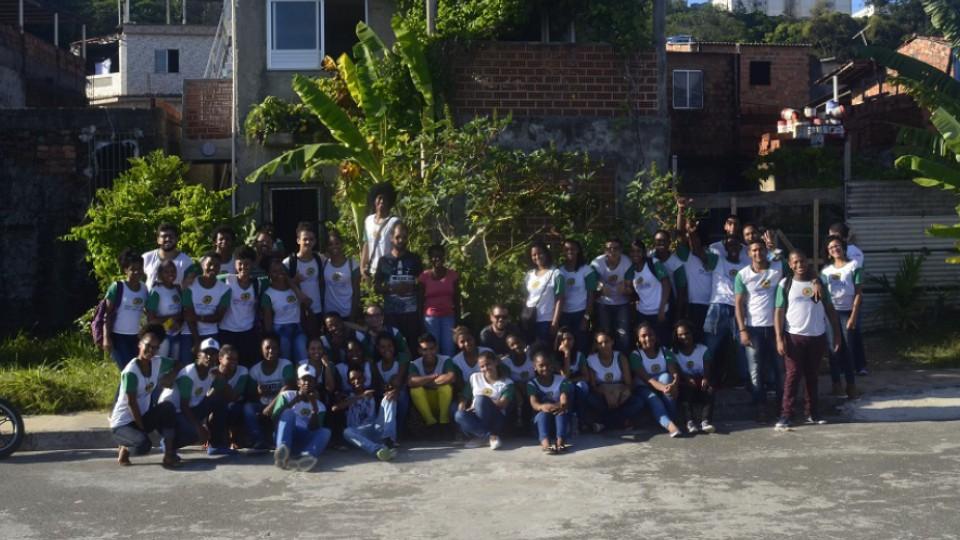 O espaço do Acervo da Laje recebe frequentemente a visita de estudantes de escolas públicas