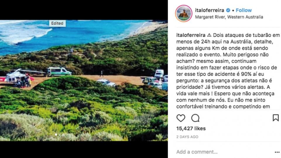 Post de Ítalo Ferreira