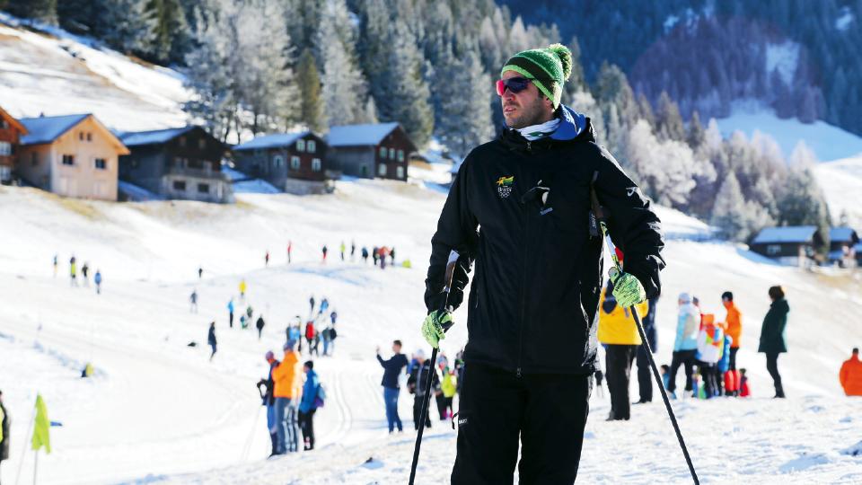 O técnico e criador do Ski na Rua, Leandro Ribela