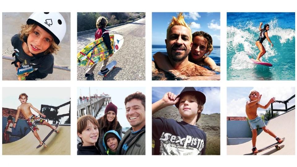 Nas ondas ou nas pistas de skate, a família Miranda vive o lifestyle dos esportes radicais em tempo integral