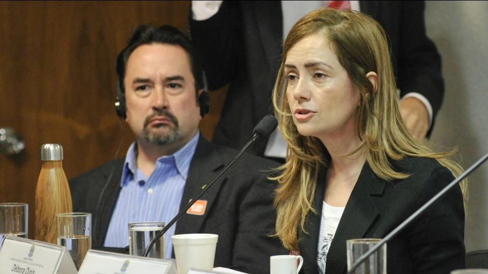 Debora Diniz, autora deste artigo, em audiência pública da Comissão de Direitos Humanos e Legislação Participativa (CDH) sobre a regulação do aborto, em 2015