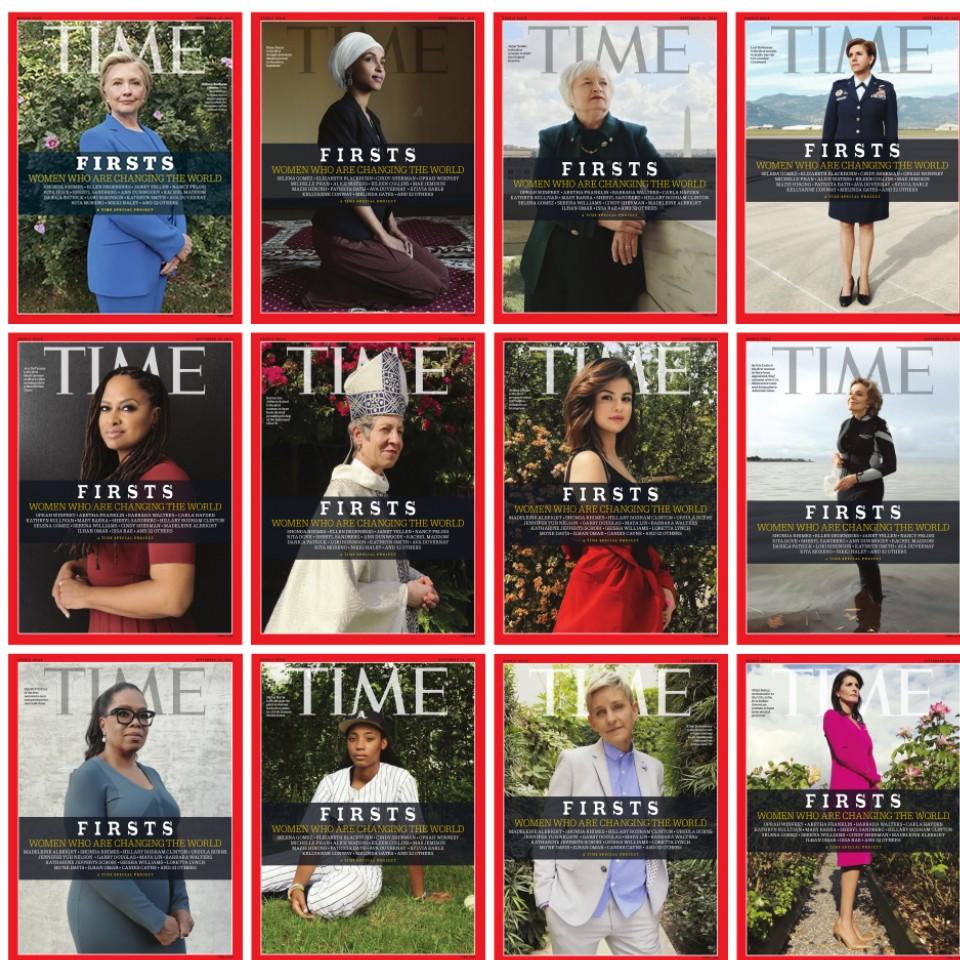 As 12 capas da Time, todas clicadas pelo celular, assinadas pela gaúcha