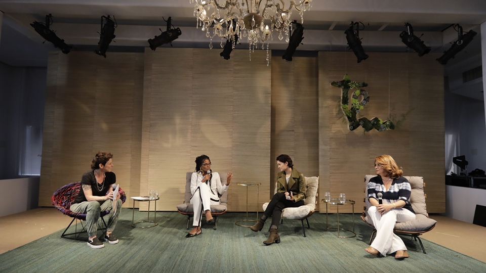 Djamila Ribeiro, Sophie Charlotte e Maristela Salles debateram o futuro com Milly Lacombe