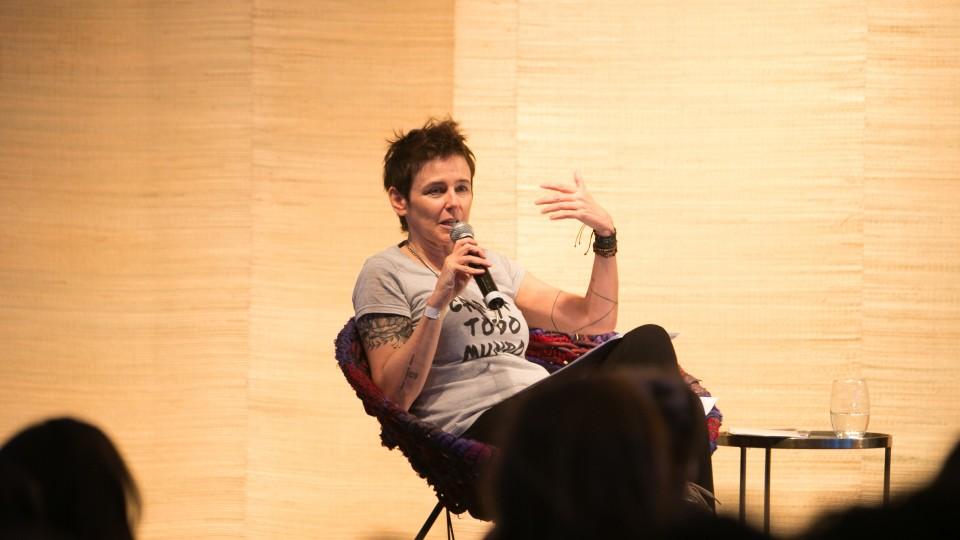Milly Lacombe comandou o talk no palco principal