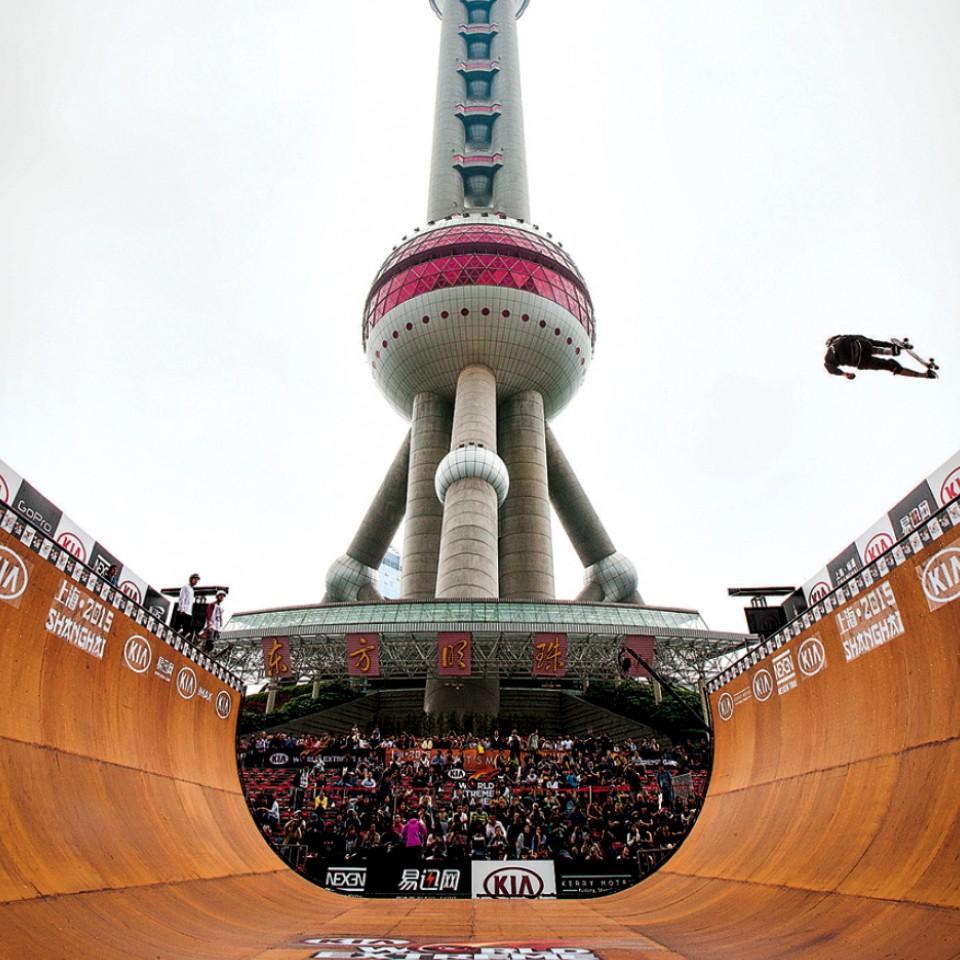 Pista construída na China