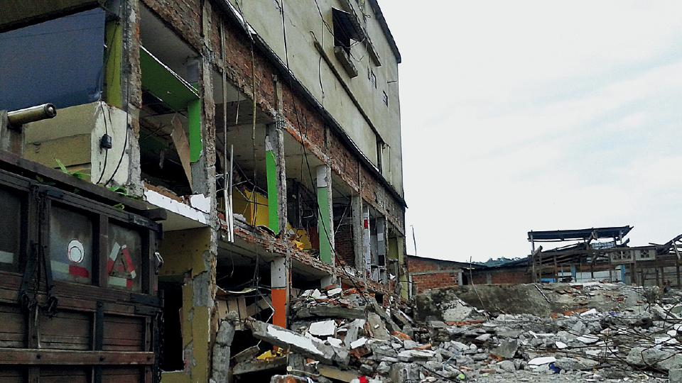 A província de Manabí (Equador), destruída após terremoto, em 2016