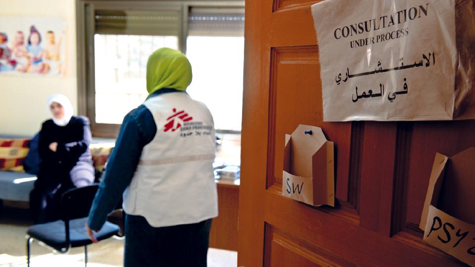 Consulta psicológica nas dependências da MSF em Nablus (Palestina), em 2010