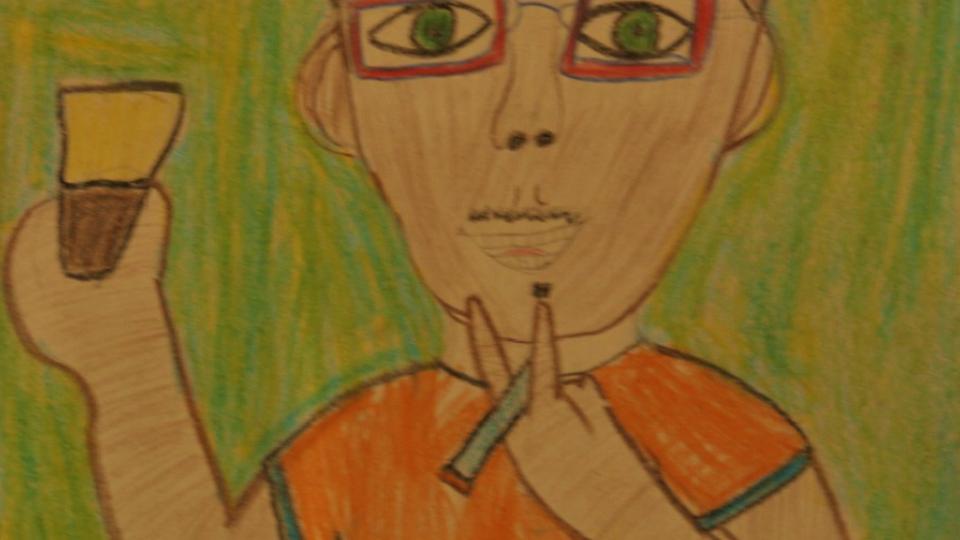 Paul Clark na visão de um de seus alunos na escola Vivamazônia