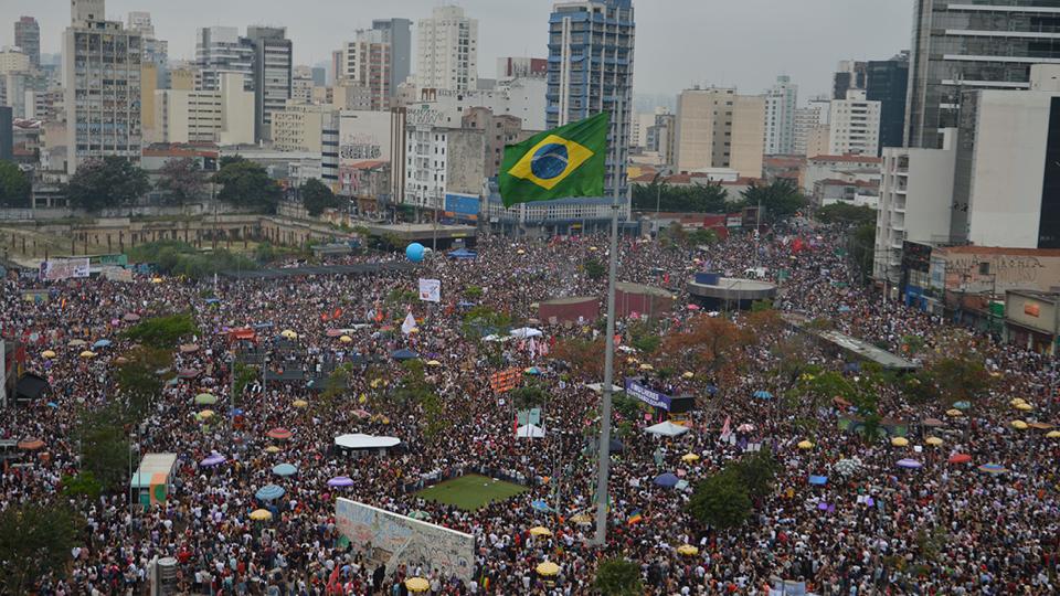 Ato protagonizado por mulheres reuniu cerca de 150 mil pessoas, em São Paulo, na região do Largo da Batata, de acordo com as organizadoras do evento. A Polícia Militar não disponibilizou estimativas