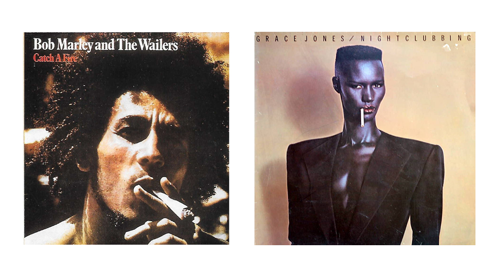 "Capas de ""Catch a Fire"" e ""Nightclubbing"", dois clássicos do acervo da Island Records"