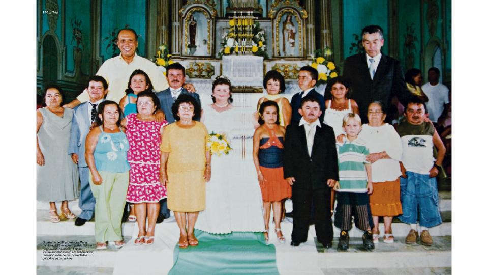 O casamento da professora Maria da Hora, 1,22 m, com o taxista Toinho, 1,35 m, foi um acontecimento em Itabaianinha