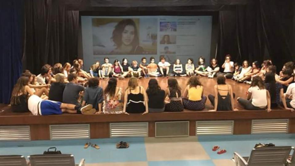 Reunião do coletivo Eu não sou uma gracinha, da Escola Nossa Senhora das Graças, no Itaim Bibi