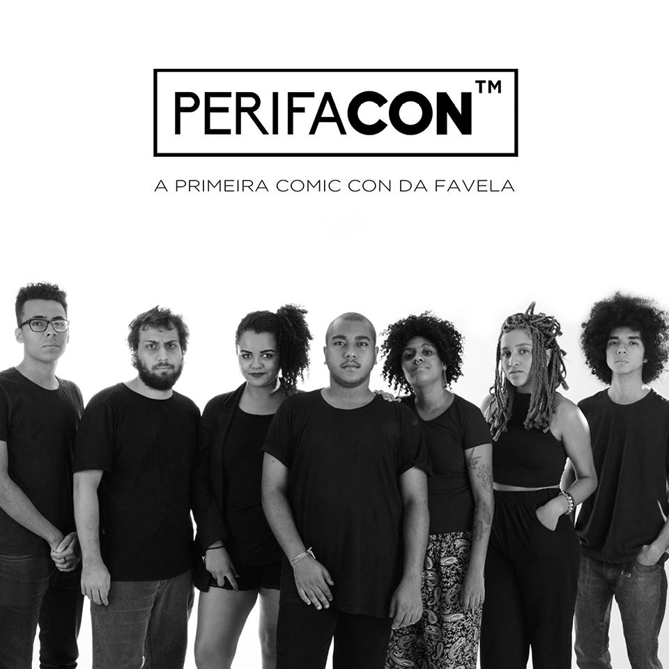 Equipe organizadora do Perifacon: Mateus Ramos, Matheus Polito, Luíze Tavares, Igor Nogueira, Andreza Delgado, Gabrielly Oliveira e Pedro Okuyama