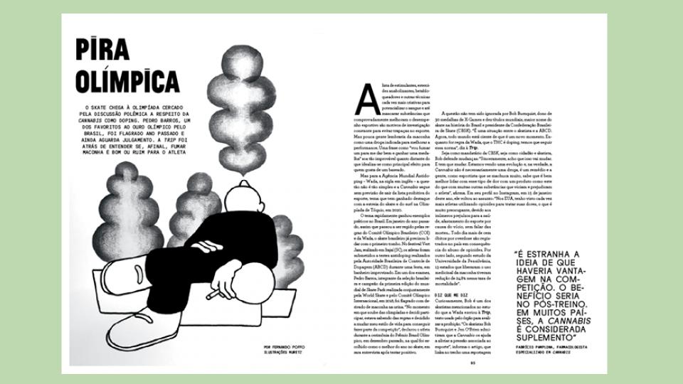 Reportagem da Revista Trip de fevereiro sobre a polêmica entre Olimpíada, skate e maconha
