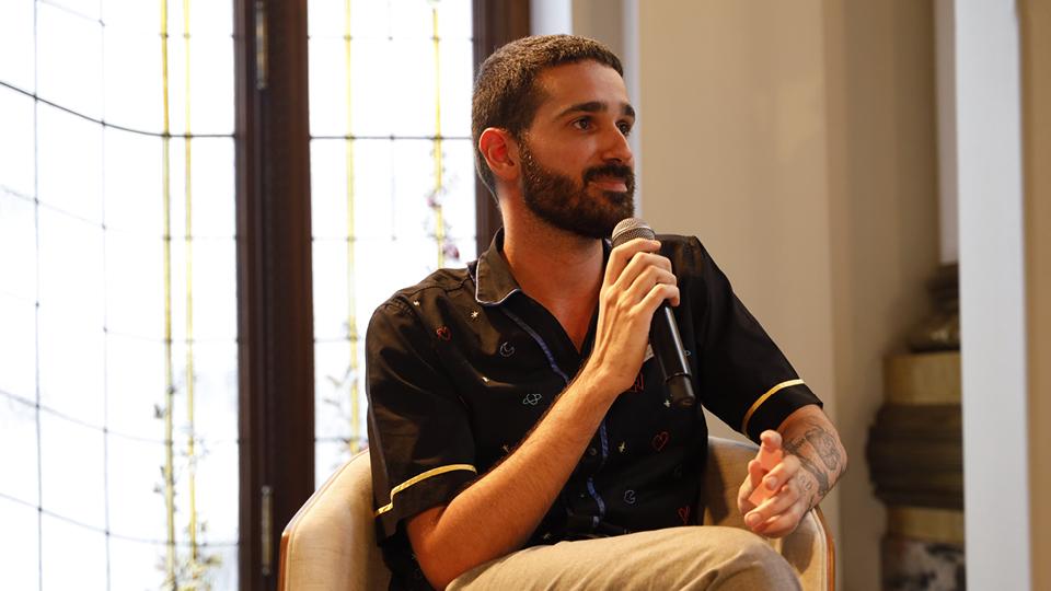 O editor de conteúdo da Editora Trip, Alexandre Makhlouf, foi o porta-voz da galera