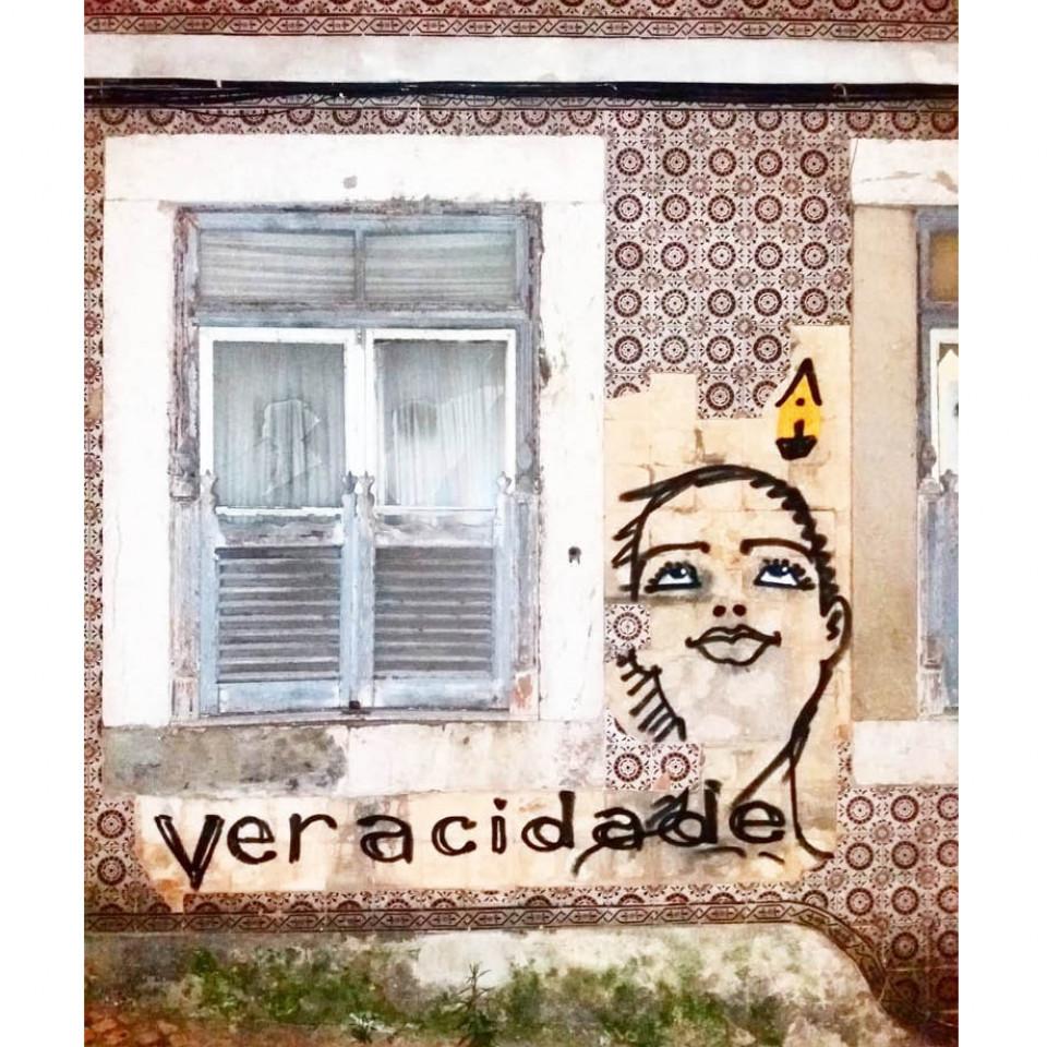 Os marcantes rostos de Mauro e o já clássico Veracidade, em Lisboa, Portugal