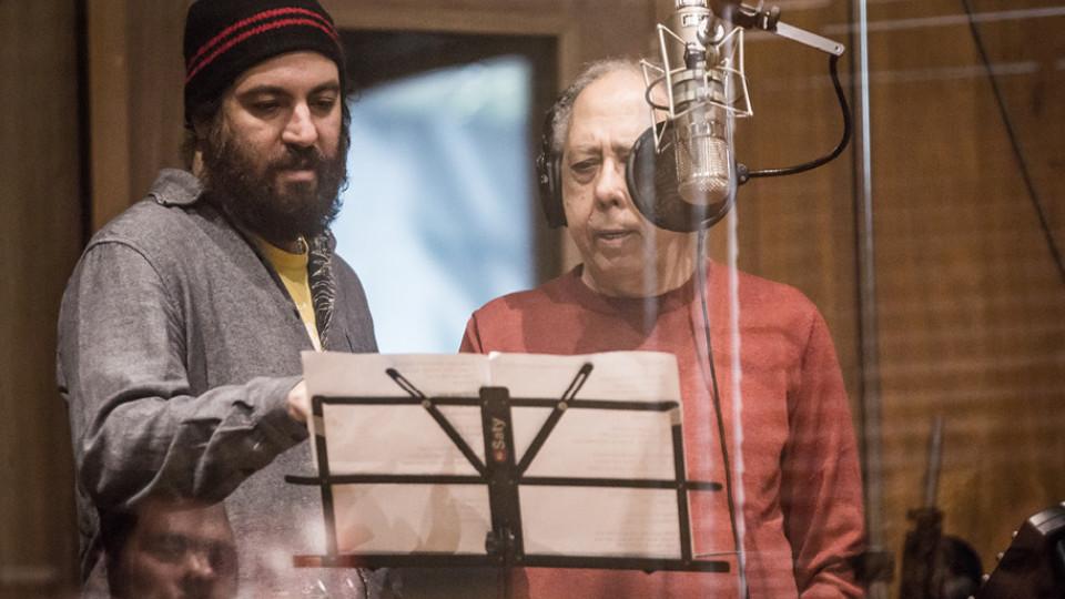 """Kiko e Jards durante a gravação de """"Besta Fera"""""""