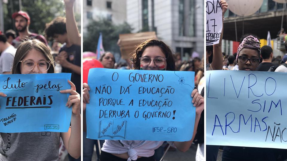 As manifestações em mais de 200 cidades protestaram contra os cortes na educação pública