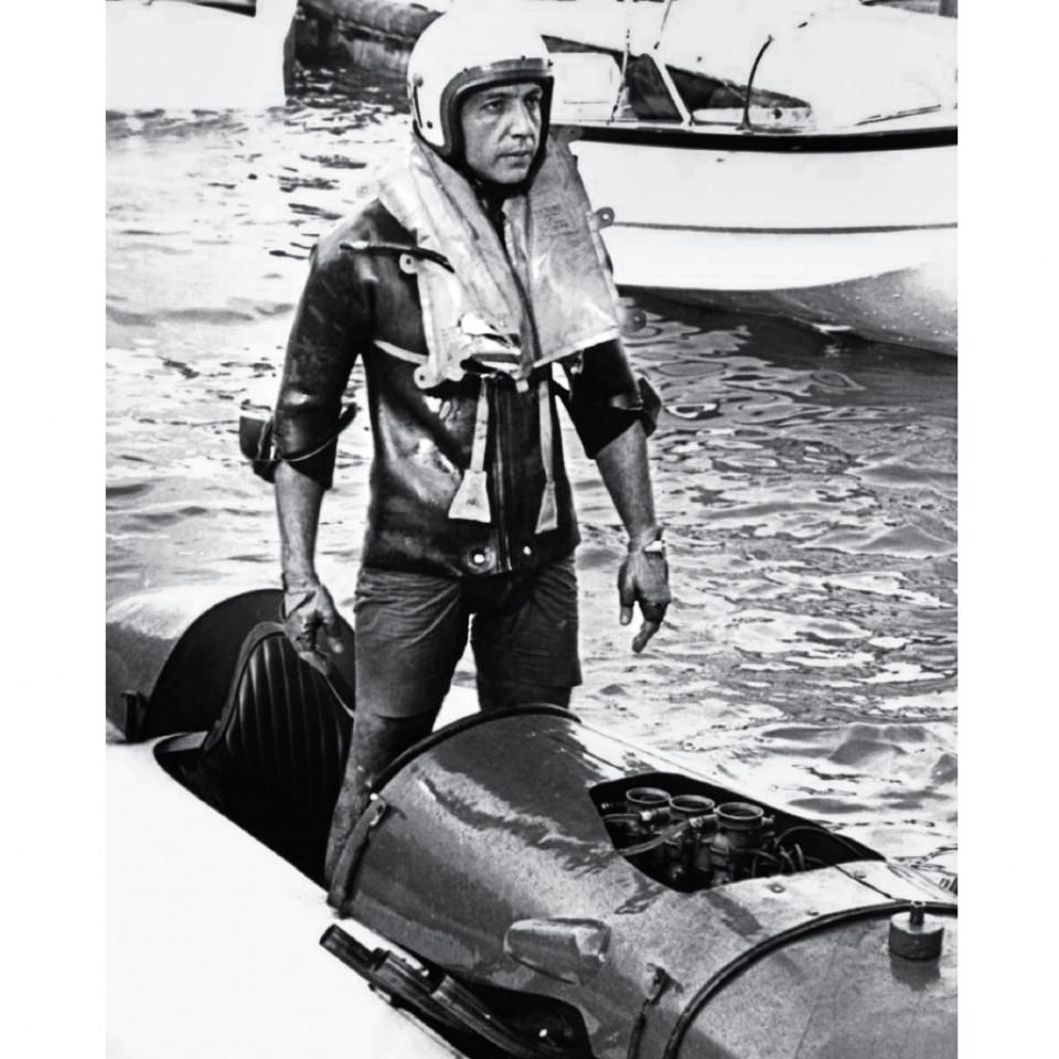 Em 1970, quando conquistou o tricampeonato de Motonáutica na represa de Guarapiranga, em São Paulo