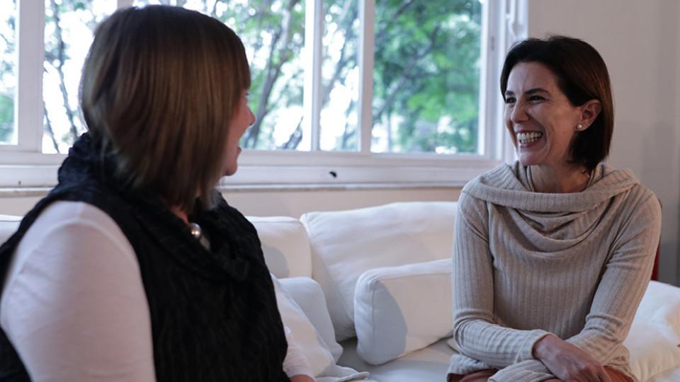 Gail Dines e Luciana Temer, diretora do Instituto Liberta