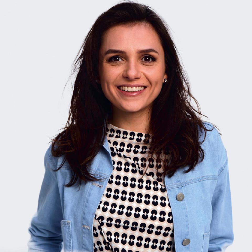 A atriz na Casa Tpm, em 2017