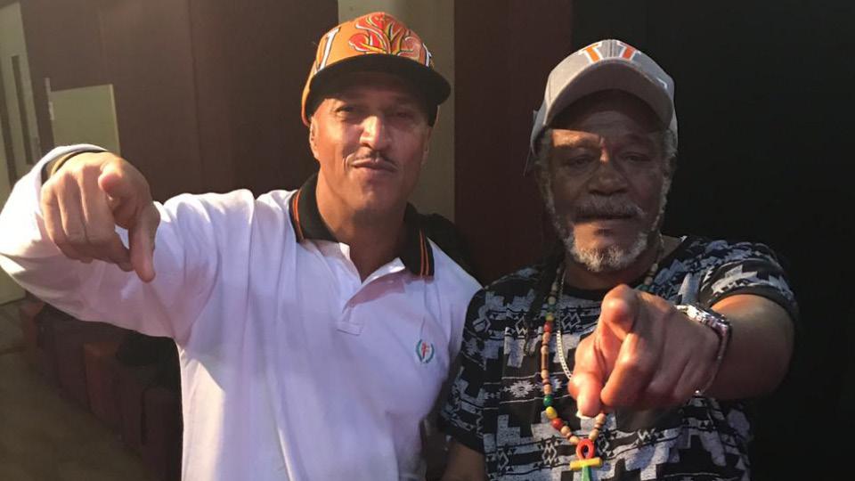 Mano Brown encontra com o jamaicano Horace Andy, cantor de um dos hits do baile que o rapper frequentava no Capão Redondo, nos anos 1980