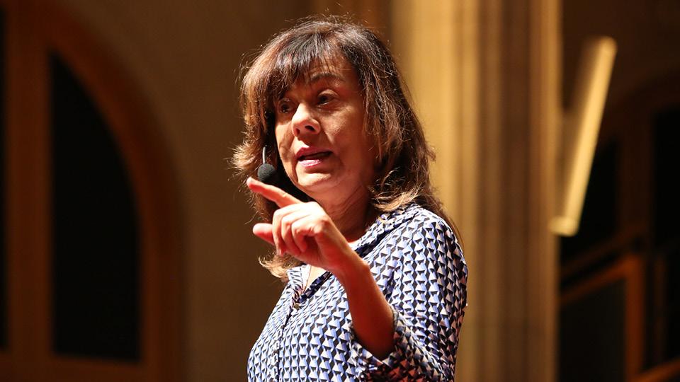 A antropóloga no TEDxSão Paulo, em 2017