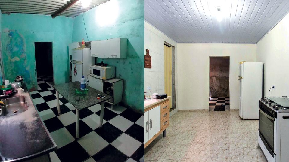 Todas as imagens desta reportagem são de projetos da Vivenda, empresa que faz reformas econômicas em casas de comunidade