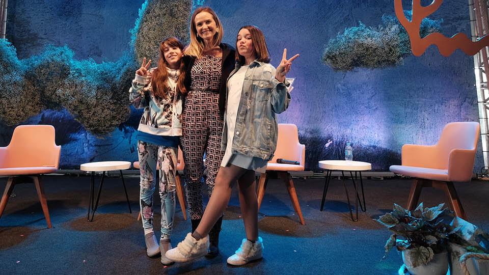 Juju Gol, Fernanda Rodrigues e  Giulia Benite
