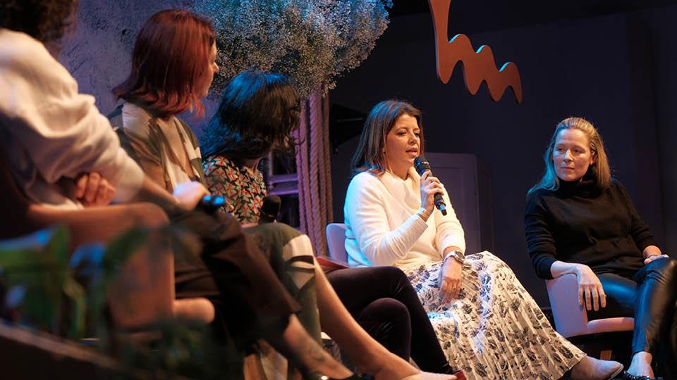 A executiva Renata Altenfelder e a ginecologista Eleonora Fonseca dividiram o palco da Casa Tpm