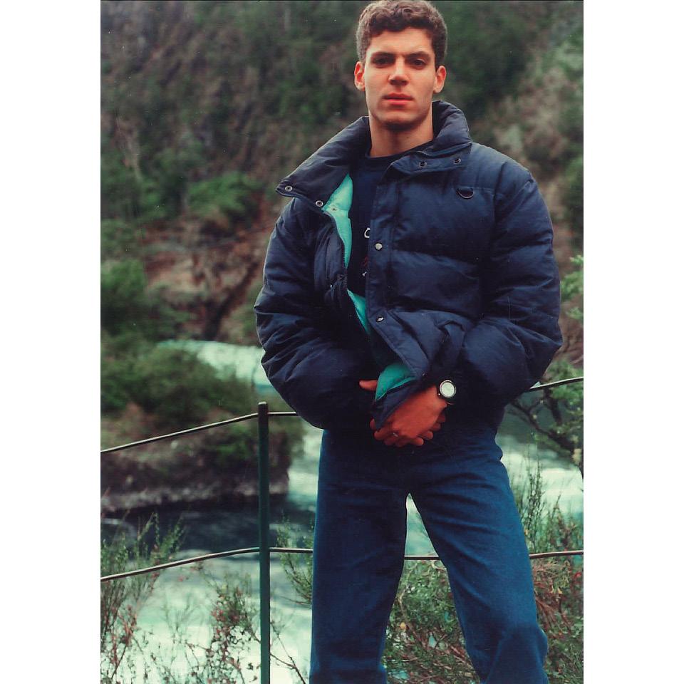 Rodrigo, em 1989, pouco antes do tiro que o deixou tetraplégico
