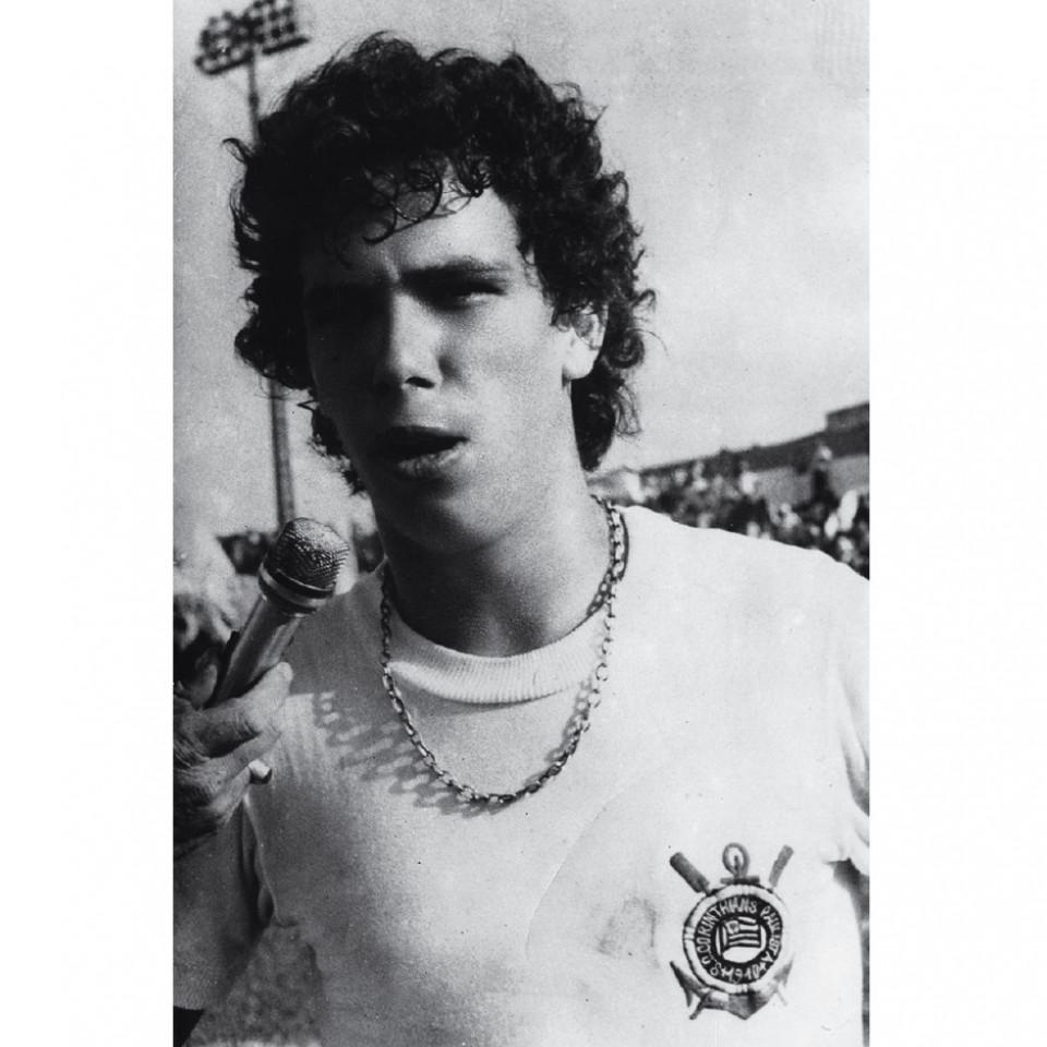 Casagrande, em 1980, aos 17, quando se profissionalizou pelo Corinthians