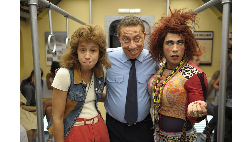 Thalita em sua versão comediante: como Janete, ao lado dos atores Paulo Silvino e Rodrigo Sant´anna, no quadro Metrô Zorra Brasil, do Zorra Total