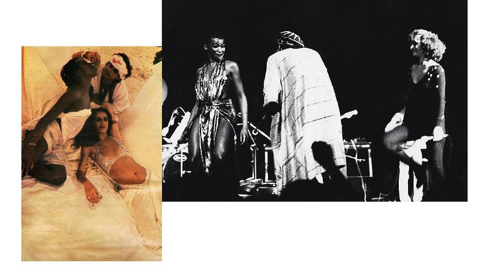 Na música: com Carlos Prieto e Maria Bethânia, na Bahia, nos anos 70; e no palco com Luiz Melodia e Marina