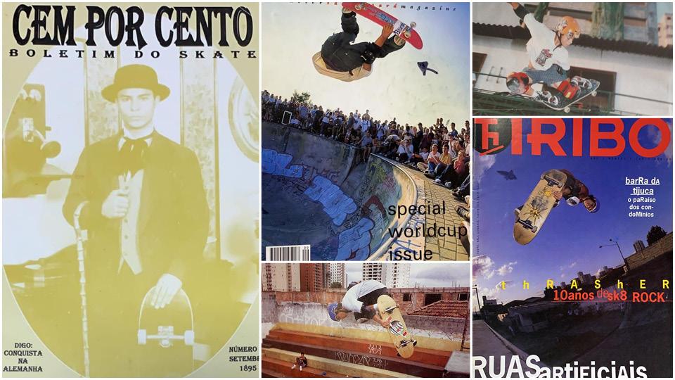 Publicações do acervo de Digo registram o momento histórico em que se tornou o primeiro campeão mundial brasileiro do skate, em 1995, na Alemanha