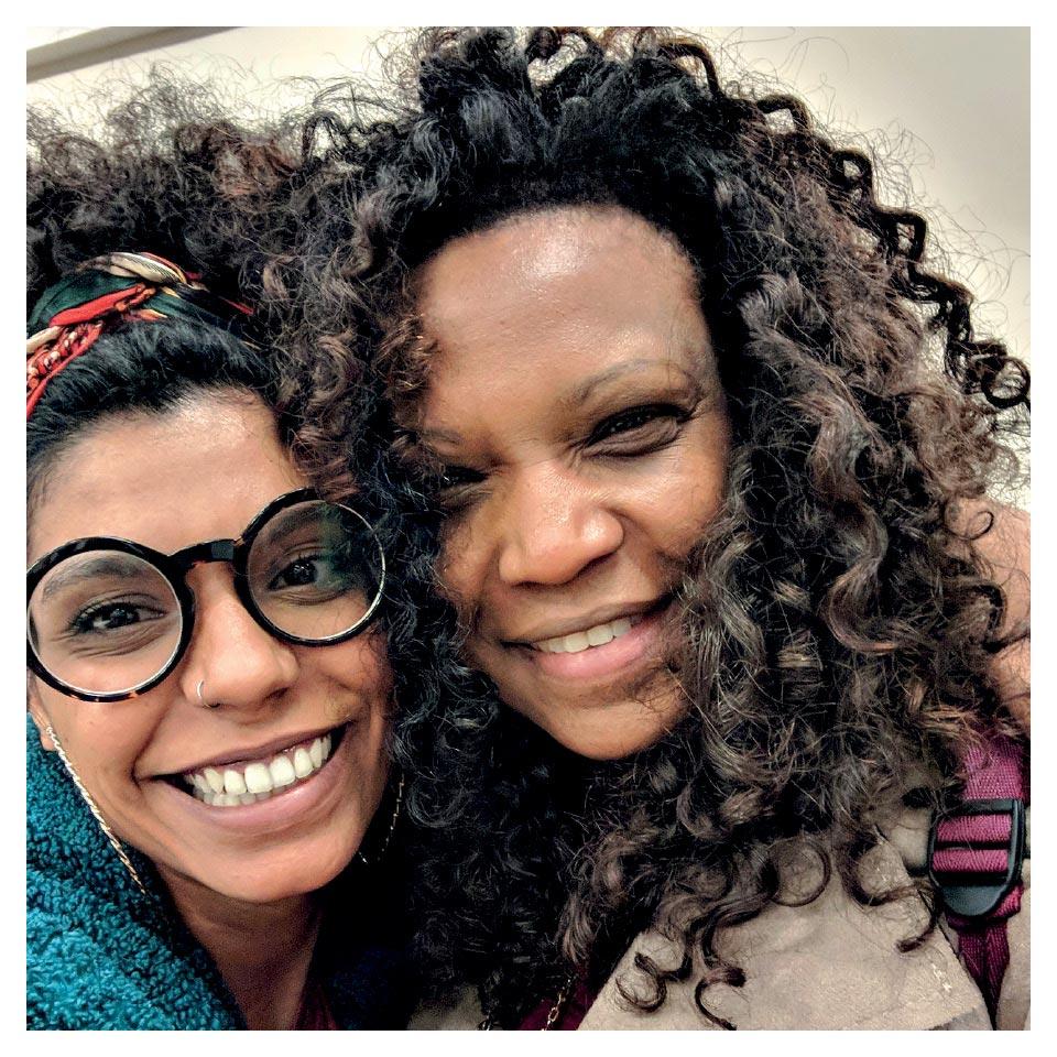 Chistiane com Eliane Dias